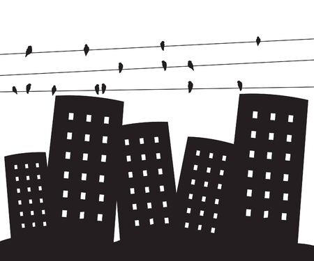 Miejskiego miasta Ilustracja