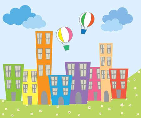 Kids city Ilustracja