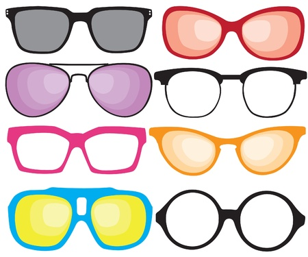 Stare okulary Ilustracja