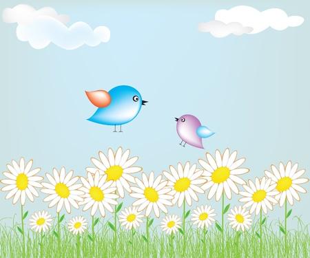 Cute ptak Ilustracja
