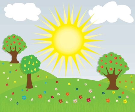 Nature landscape Stock Vector - 9805042