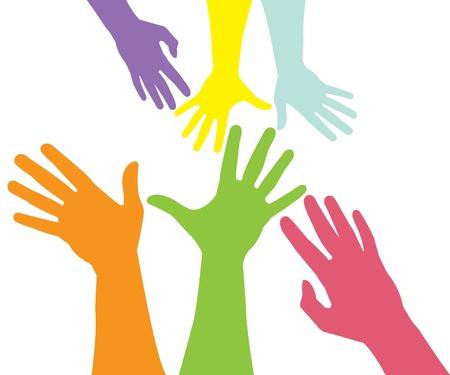 emelt: Raised hands