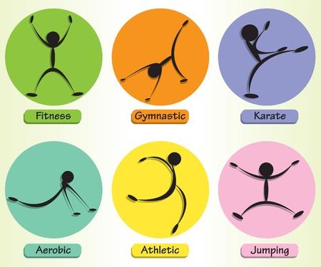 Sylwetki sportowe Ilustracja