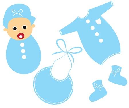 Zestaw baby boy Ilustracja