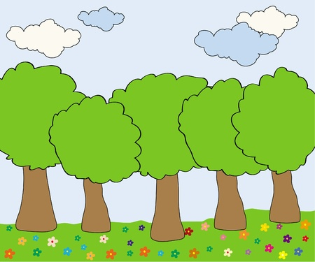 Beautiful forest Stock Vector - 9935489