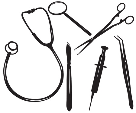 equipments: Medical set Illustration