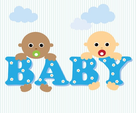Cute Baby Stock Vector - 10014729