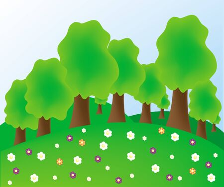 Summer tree Stock Vector - 10127019