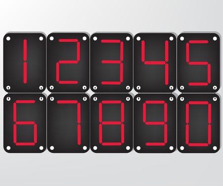 Digital number Vector