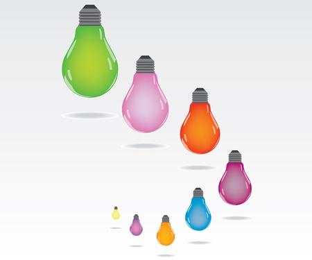 Kolor żarówka Ilustracja