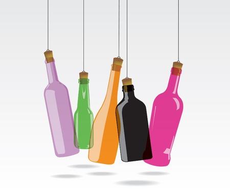 cerveza negra: Botella de vidrio Vectores
