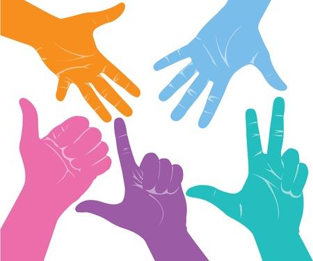hold hand: Mani