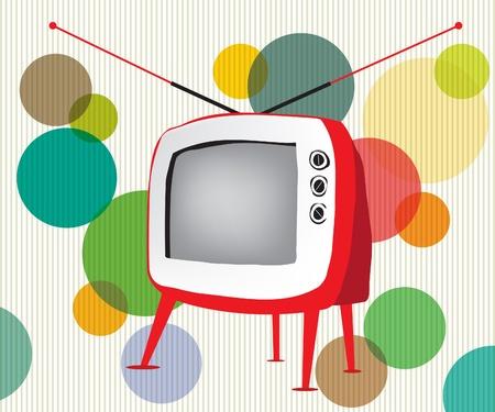 Retro czerwony TV Ilustracja