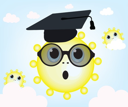 Graduating sun and sky Stock Vector - 10549950