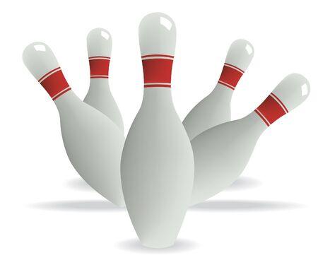 Bowling pins Stock Vector - 10795395