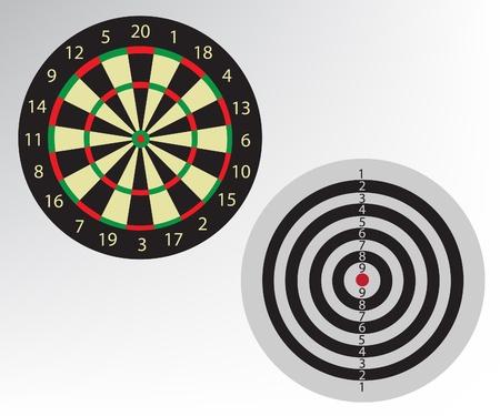 Dart board illustration Stock Vector - 10823106