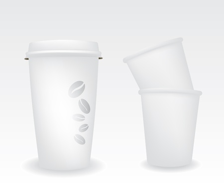take away: Paper cups Illustration