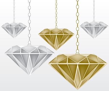 joyas de plata: Diamantes ilustraci�n
