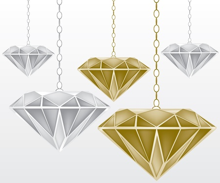 light chains: Diamonds illustration