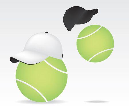 Tennis ball and cap Stock Vector - 11233481