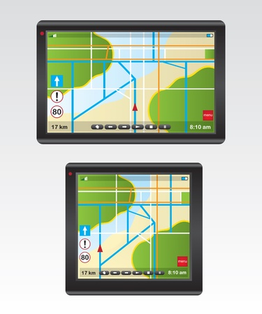 GPS Navigation illustration Vector