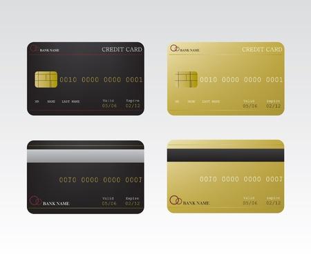 Karta kredytowa Ilustracja