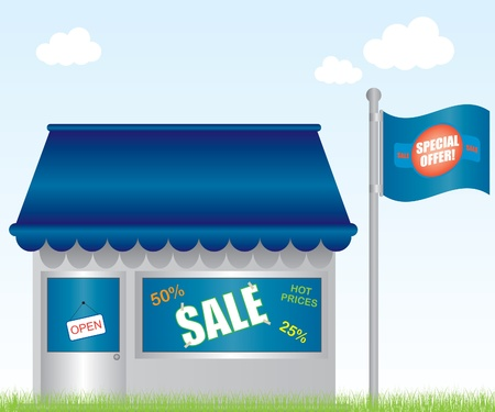 Market shop illustration Vector