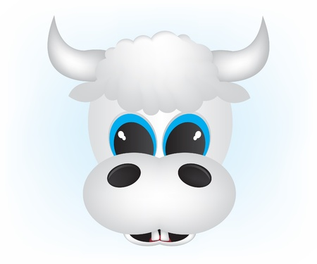 Cow cartoon illustration Stock Vector - 12033571
