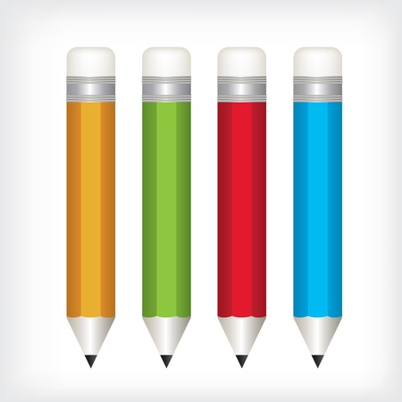 Pencil color  illustration Vector
