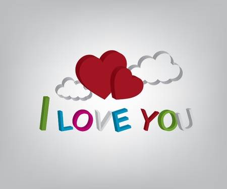 I love you vector illustrations Vector