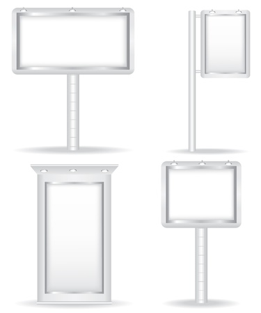 blank canvas: Billboard set illustration