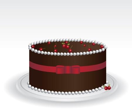 Chocolate cake  Stock Vector - 12775502