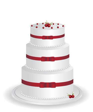 White cake illustration Vector