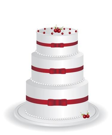 White cake illustration Stock Vector - 12775501