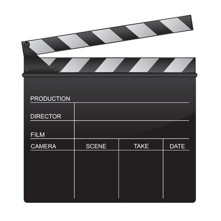 Clapper board illustration Vector