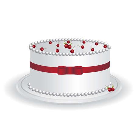 White cake Stock Vector - 12949318