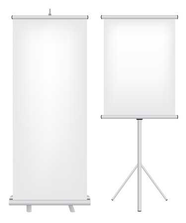 vertical banner: Roll up stand illustration