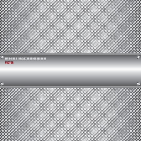 brushed aluminum background: Metal