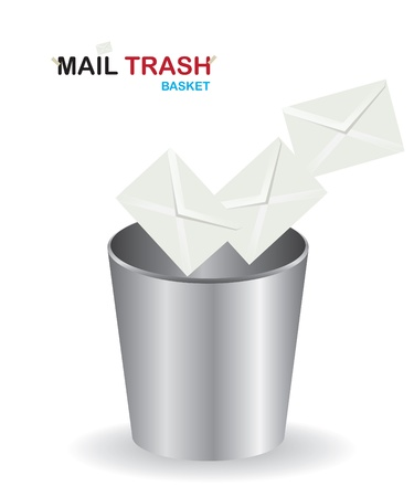 Basket mail trash Vector