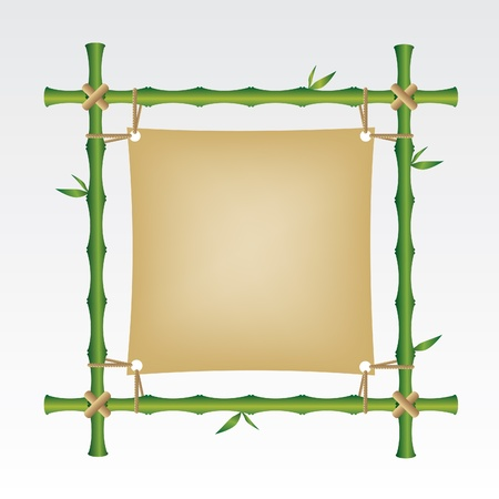 Bamboo frame Stock Vector - 13693891