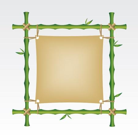 Bambus ramki Ilustracja