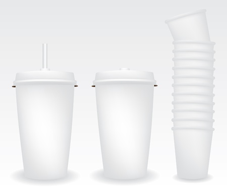 disposable: Paper cups illustration