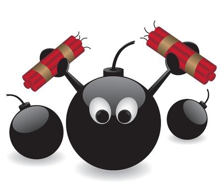 dinamita: Bomba y la ilustración de dinamita Vectores