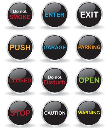 Signs button illustration Vector