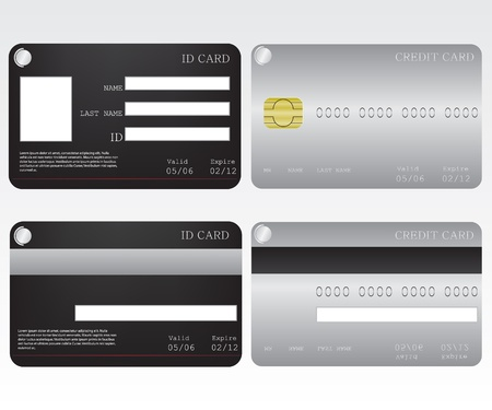 Credit card and id card