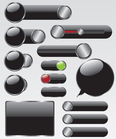 Web button illustration Vector