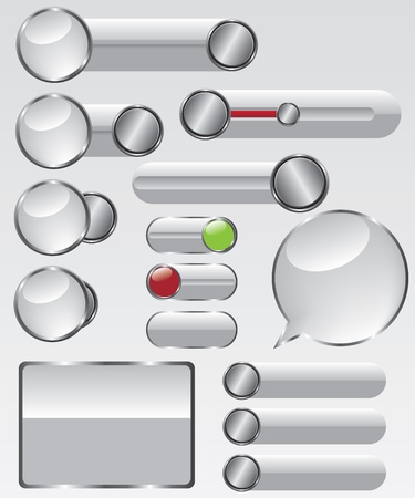 Web glass button illustration Vector