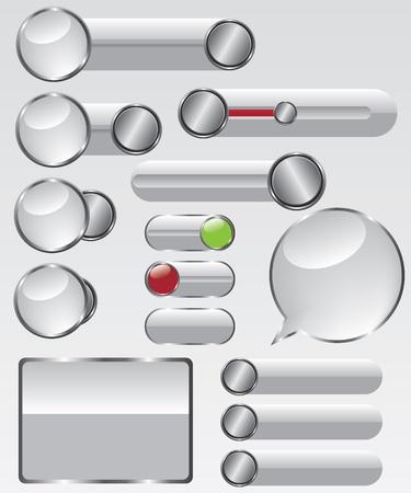 Web glass button illustration Vector