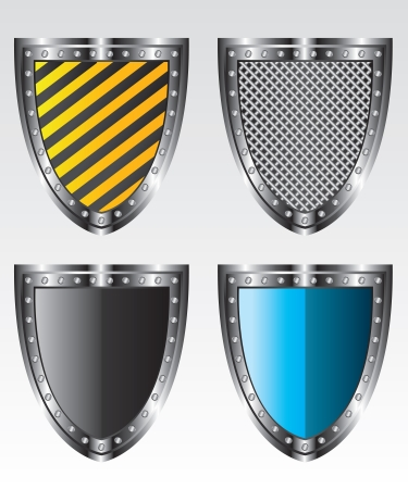 Shields set  illustration Vector