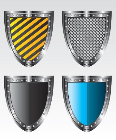 Shields set  illustration Illustration